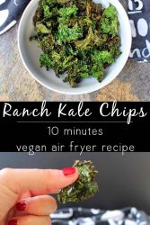 Air Fryer Ranch Kale Chips