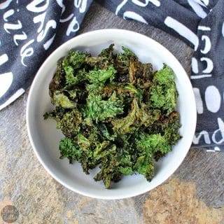 Ranch Kale Chips Made in the Air Fryer