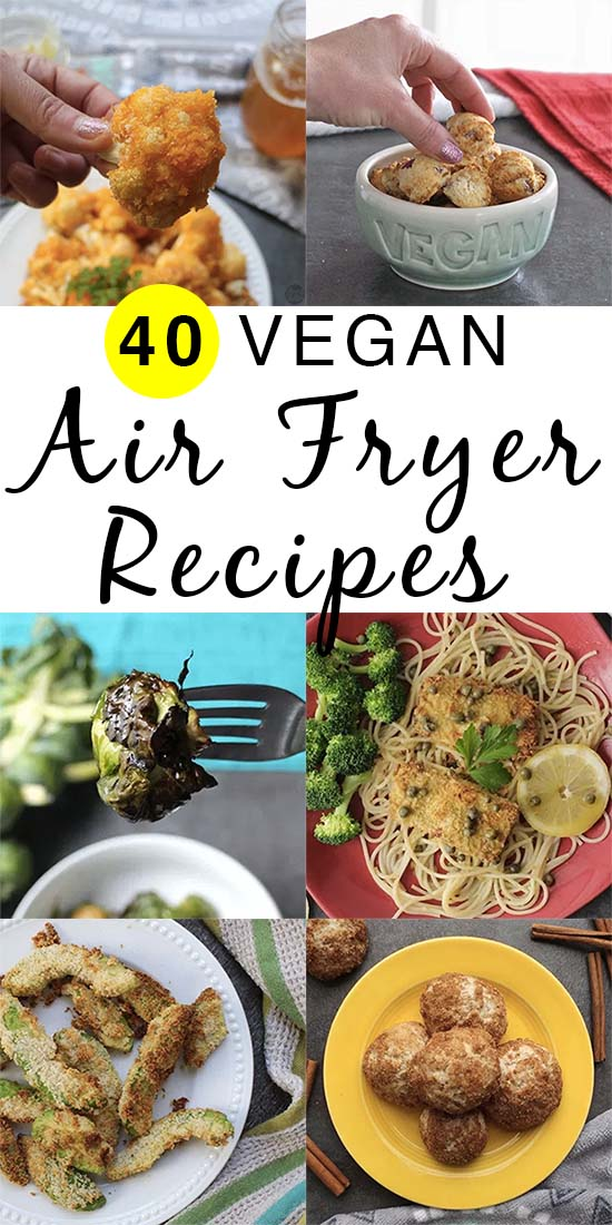 An epic list of vegan air fryer recipes, plus a handy FAQ list to help you choose and use your new air fryer.