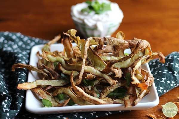 Air Fryer Potato Peels from Cadry's Kitchen