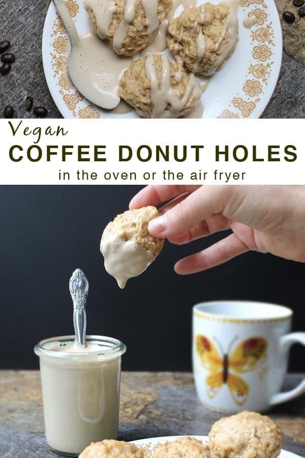 Vegan Coffee Donut Holes with Maple Cream