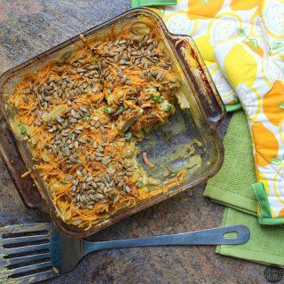 Vegan Macaroni and Peas Casserole