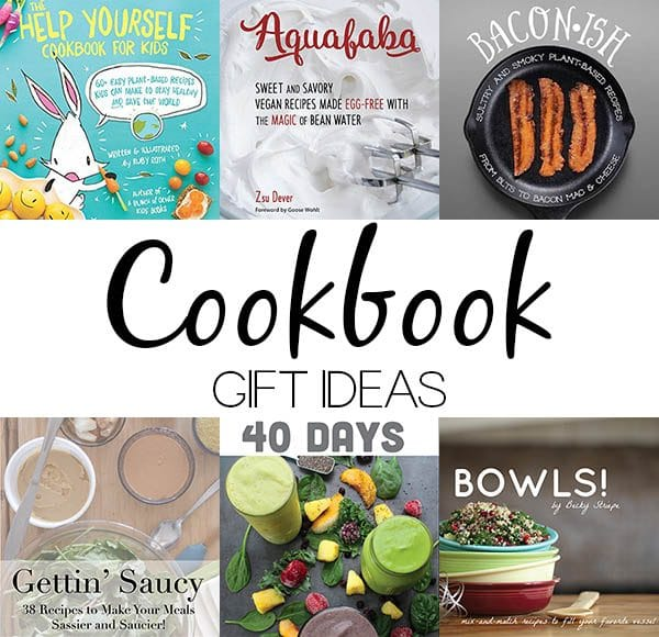 image collage of vegan cookbook covers