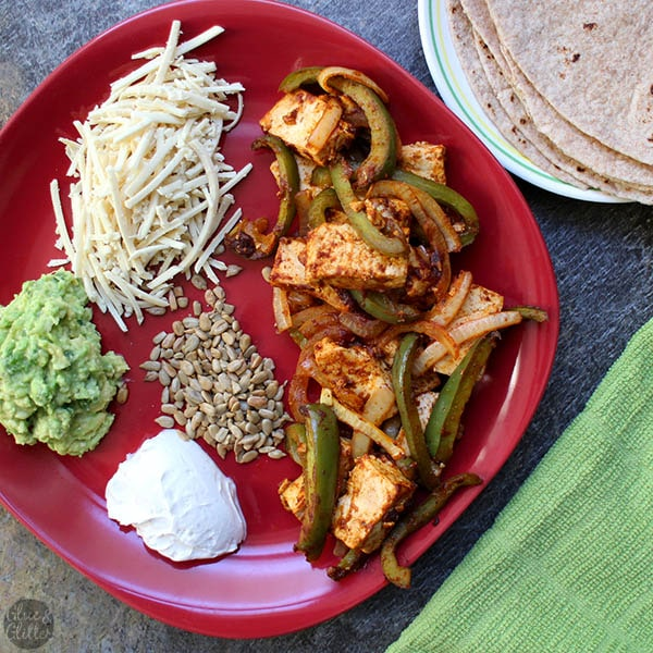 Baked tofu fajitas are an easy, hands-off meal that's perfect for busy weeknight cooking.