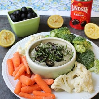 Creamy Basil Olive Dip for Game Day (or any day!)