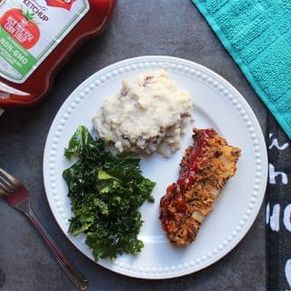 Quinoa Loaf with Easy, Sticky Ketchup Glaze