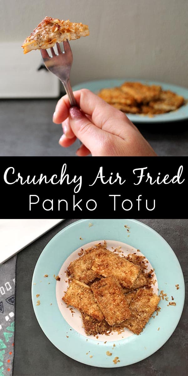 Crunchy Panko Tofu cooks up like magic in the air fryer! Here's how to make your own.