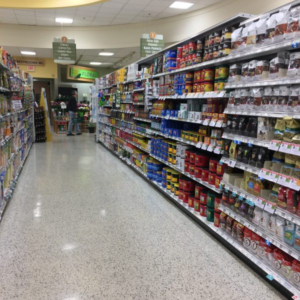 coffee aisle of a grocery store