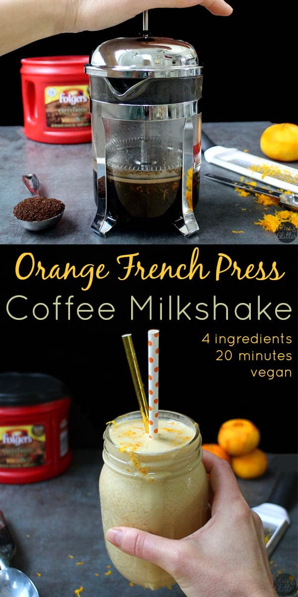 If you haven't tried coffee and citrus together before, let this Orange French Press Coffee Milkshake change your heart and mind! #CoffeehouseBlend #ad