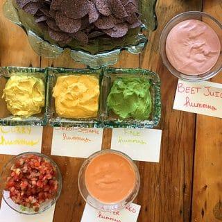 Rainbow Hummus for Darrol's Birthday!