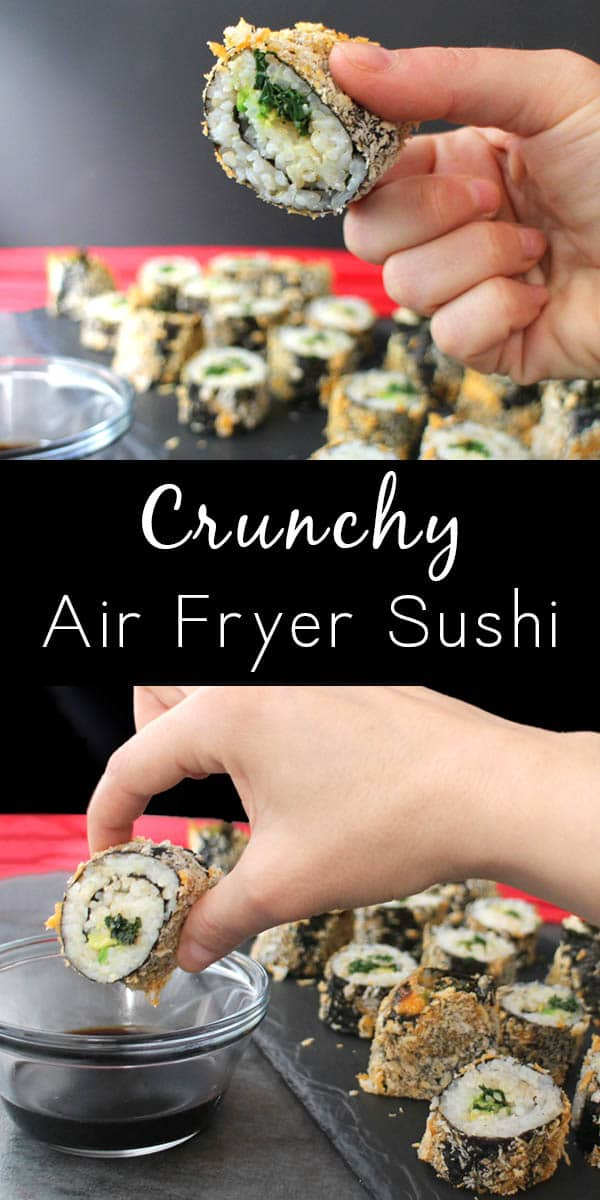 Guys, I am crazy for these delicious Air Fryer Sushi Rolls! They're crunchy, filling, and so, so fun to make!