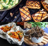 grill recipes for both alternative main dishes and tasty, grilled sides.
