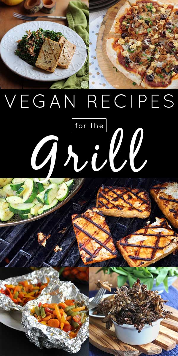 image collage of vegan grill recipes