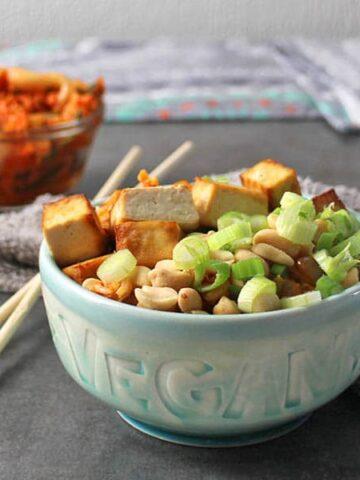 bowl of kimchi fried rice