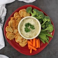 Vegan Onion Dip is a grown-up spin on a slumber party classic. Perfect for dipping as a snack or as part of your next party spread!