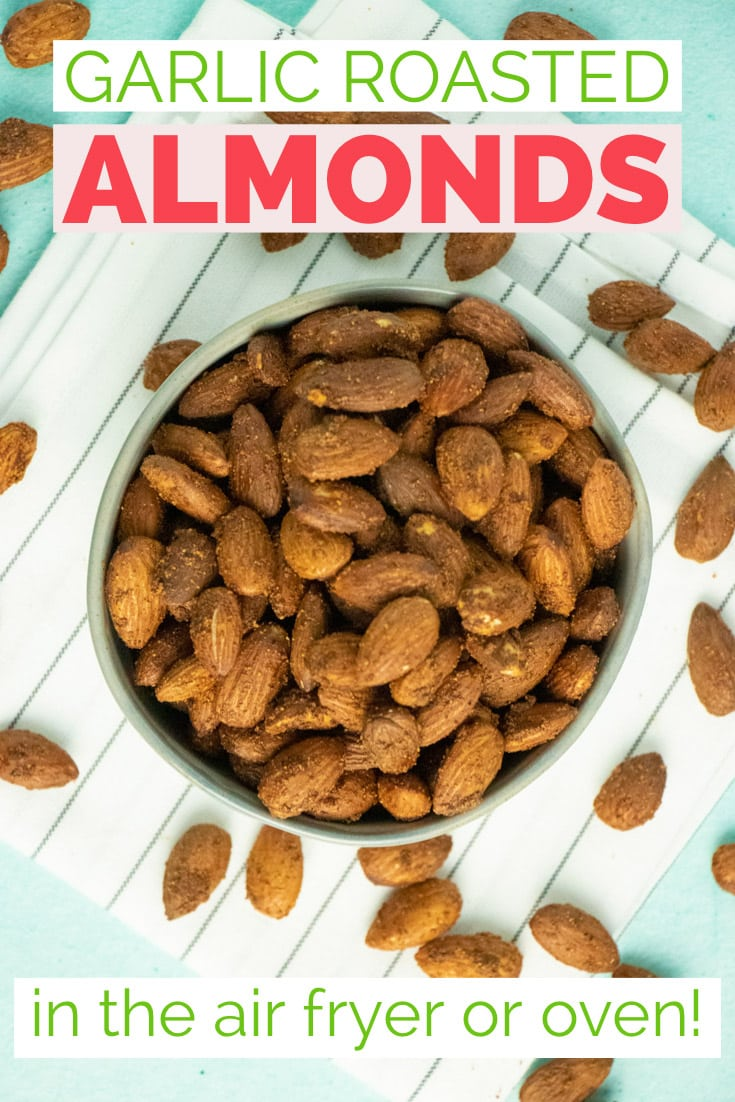bowl of air fryer roasted almonds
