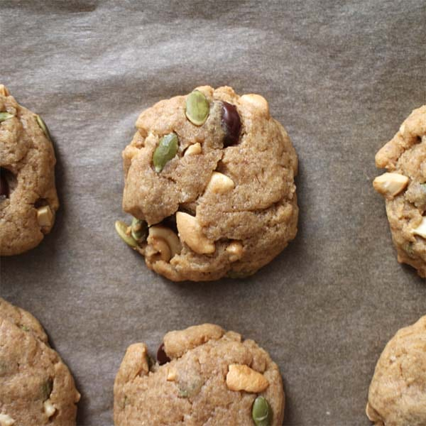 Make your sweet and easy Vegan Maple Cookies with whatever nuts or seeds you like. You can add chocolate chips, too, if that's your thing!