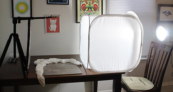 Recipe Video Setup with Overhead Pro Tripod and Artificial Lighting