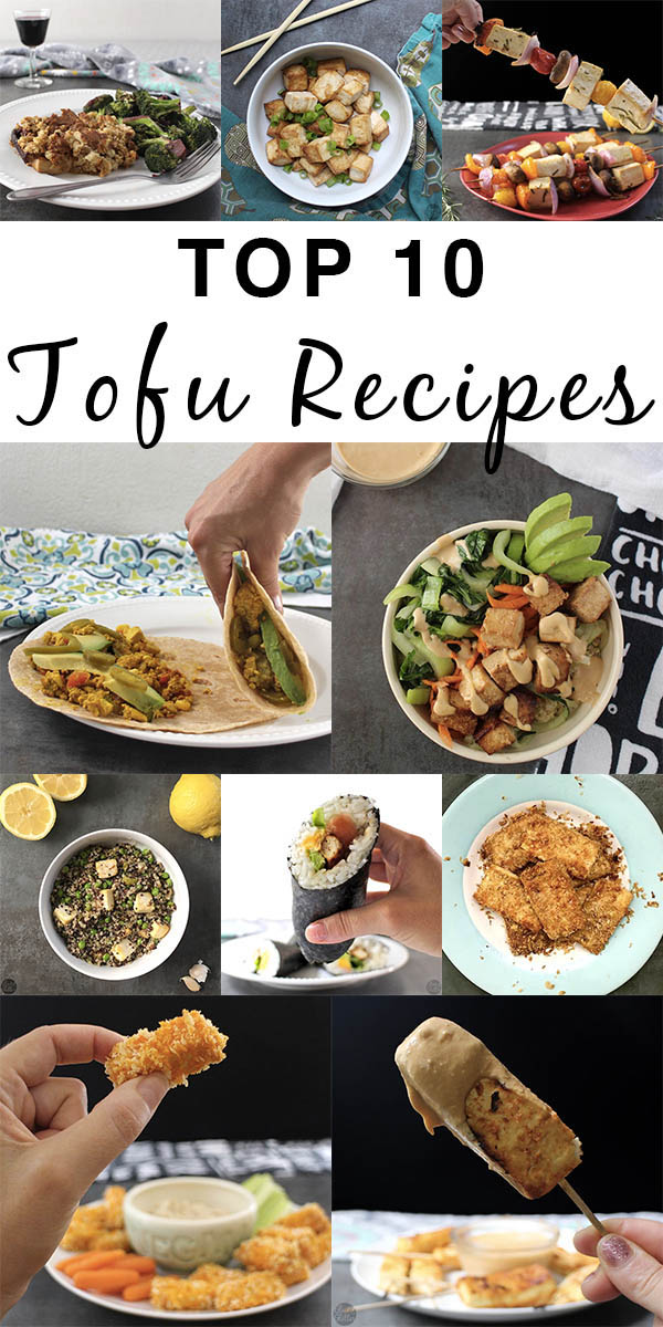 Do you love tofu as much as I do? These are the top 10 most popular tofu recipes on my site. Get your soy on, y'all.