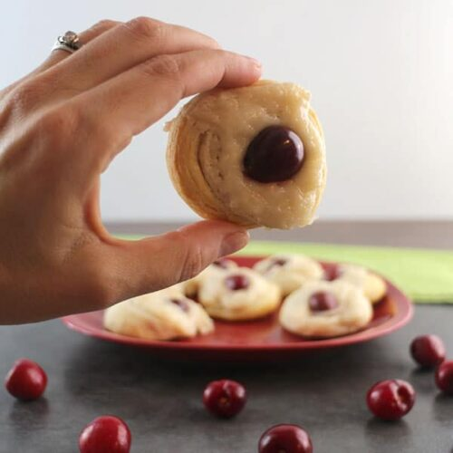 I won't tell anyone how easy it was to make this sweet, creamy, Vegan Cherry Cheese Danish if you don't!