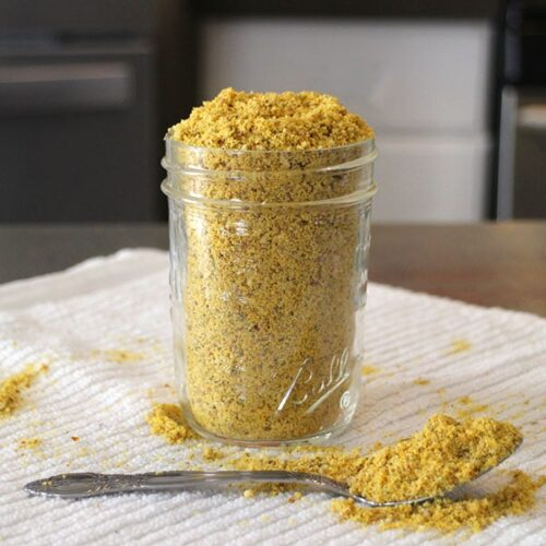 Sprinkle this magical Fairy Dust - a spin on homemade vegan Parmesan cheese - on everything! It's a delight on pizza, pasta, veggies, salads, potatoes, and more.