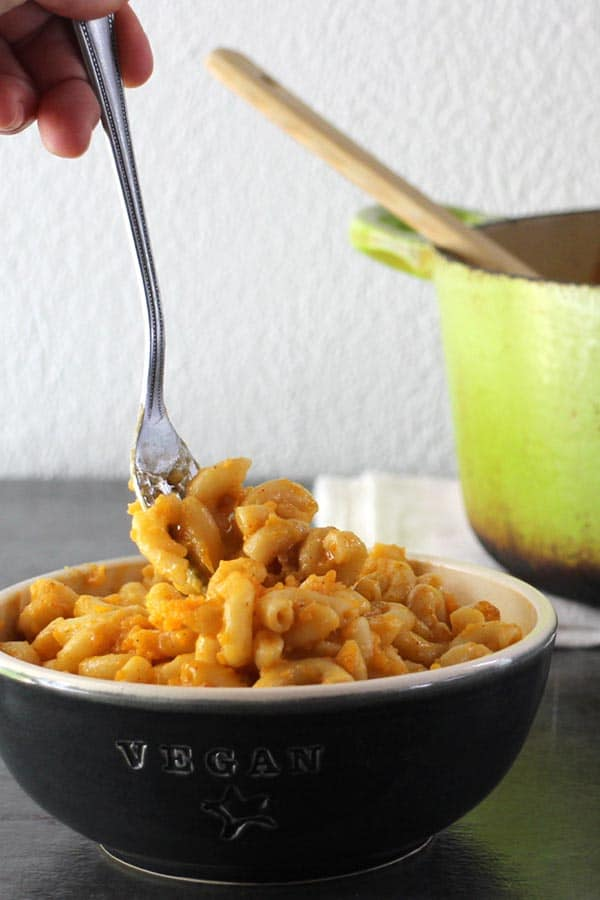 Old-fashioned, Vegan Baked Macaroni and Cheese made from scratch is a family favorite: rich, creamy, decadent, and perfect with a side of air fryer tofu and your favorite greens.