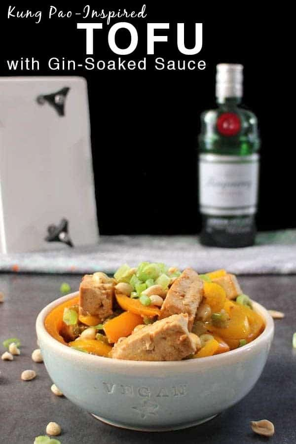 Thesauce for this tasty bowl of tofu has a fun, gin-soaked twist! Inspired by the sweet heat of Kung Pao Tofu, it's perfect served over rice, noodles, or quinoa.