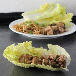 Napa Cabbage Wraps with Quick Sesame Noodles