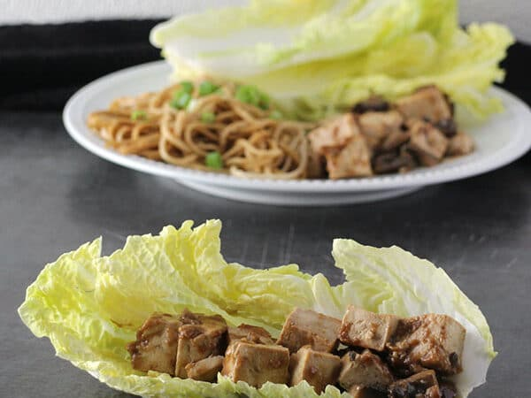 Big, fresh leaves of Napa cabbage heaped with plenty of flavorful tofu are perfect with a side of Quick Sesame Noodles. Supper is served!