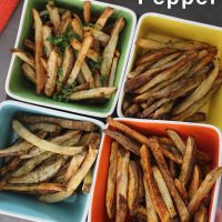 Perfect Air Fryer French Fries Seasoned 4 Ways