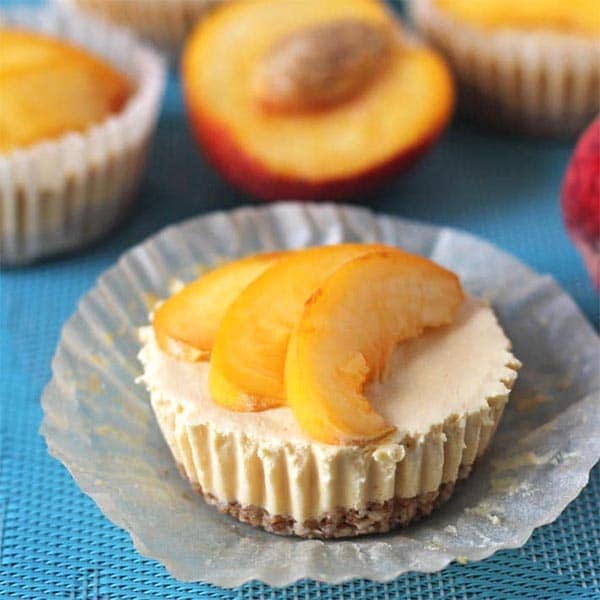 No Bake Peach Cheesecake from Delightful Adventures