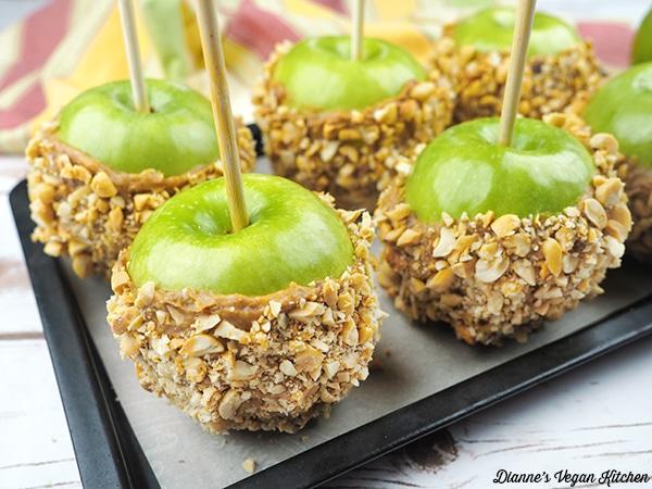 Vegan Caramel Apples from Dianne's Vegan Kitchen