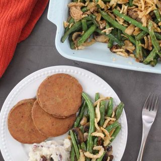 Perfect Air Fryer Roasted Green Beans and Mushrooms