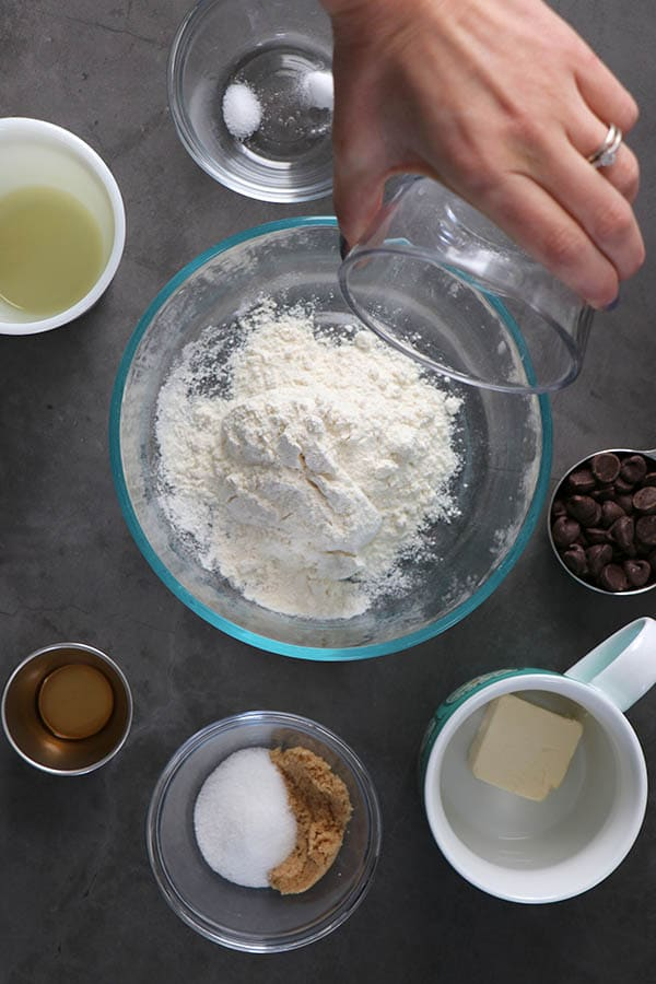Air Fryer Chocolate Chip Cookie Ingredients
