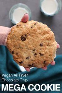 Easy Air Fryer Chocolate Chip Cookie In 20 Minutes Vegan