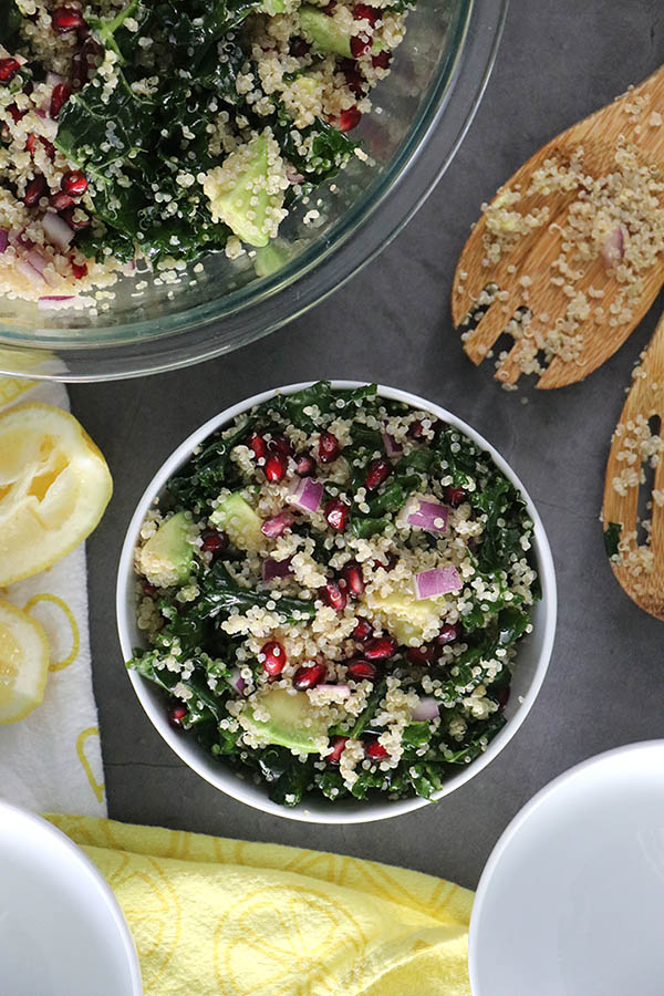 Vegan Quinoa Salad With Pomegranate Seeds Oil Free Option Included