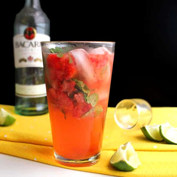 Strawberry Mojito, No Simple Syrup Needed (6 Ingredients