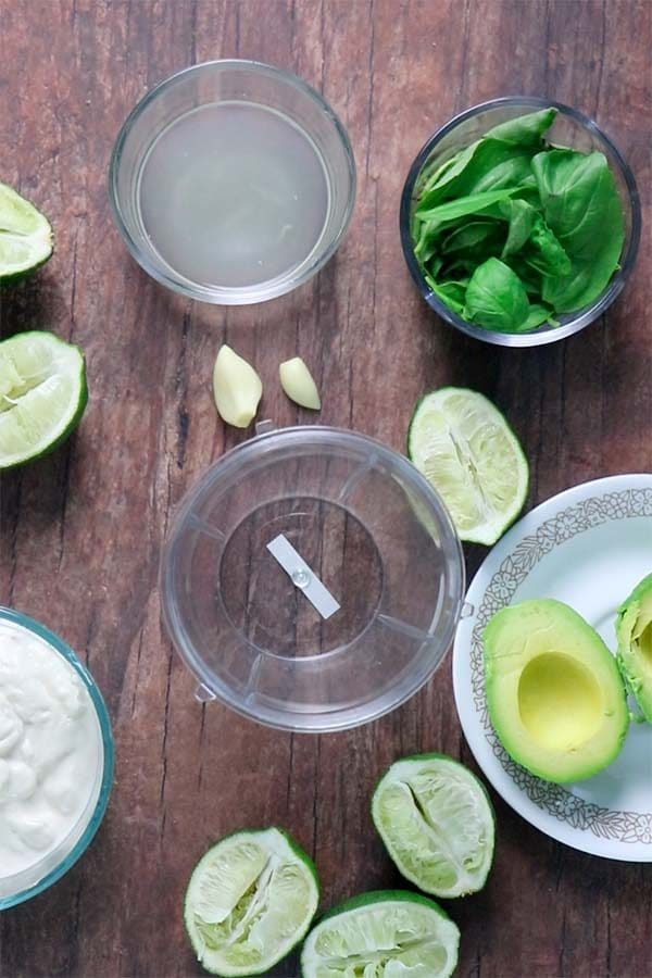 lime-basil avocado aioli ingredients