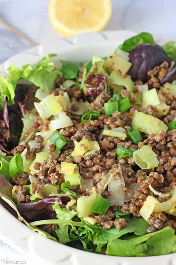easy vegan lentil salad from V. Nutrition and Wellness