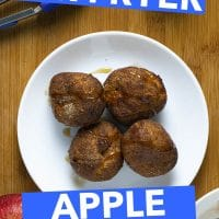 20 Minutes Air Fryer Apple Fritters Simple Vegan Recipes