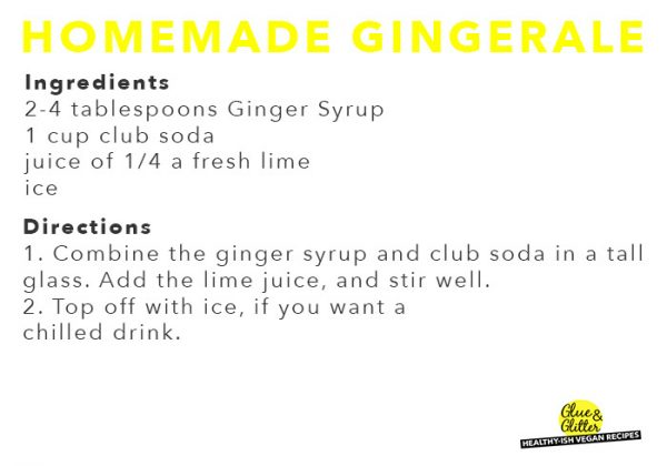 homemade ginger ale gift tag
