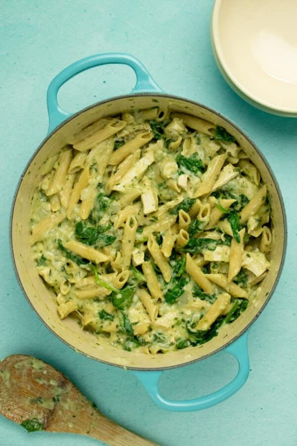 vegan pasta before baking