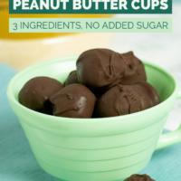cup of vegan chocolate peanut butter balls