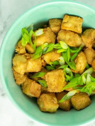 Crispy, flavorful air fryer tofu