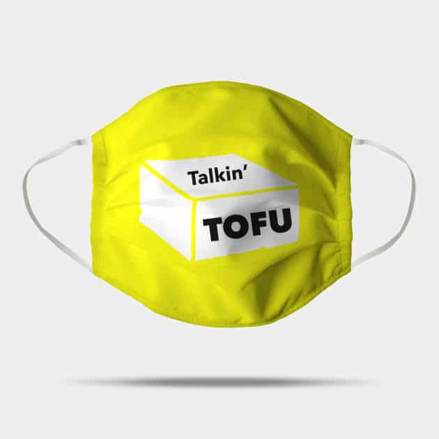 yellow Talkin' Tofu face  mask