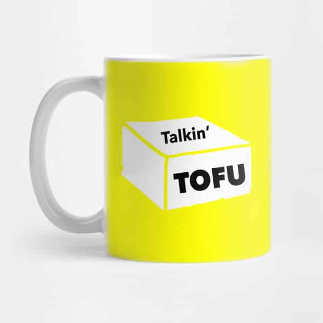 yellow Talkin' Tofu mug