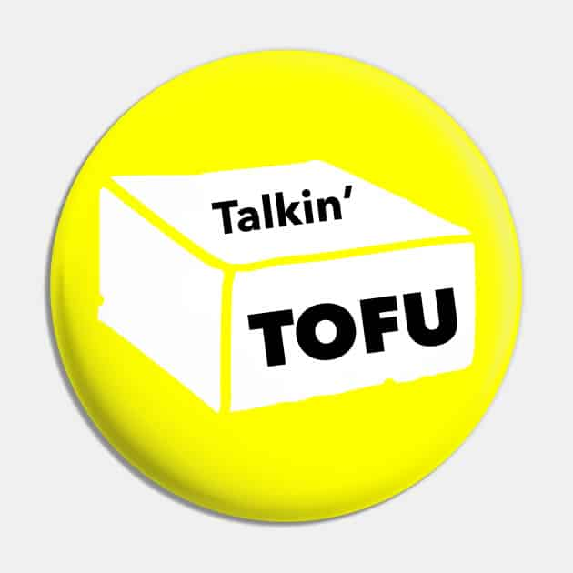 yellow Talkin' Tofu button