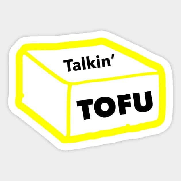 yellow Talkin' Tofu sticker