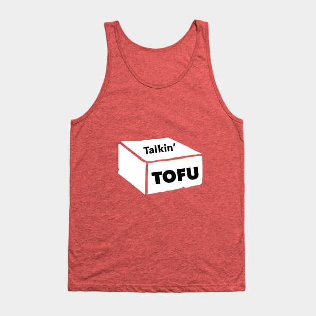 red Talkin' Tofu tank top