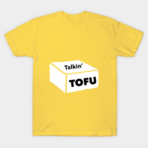 talkin-tofu logo tee in yellow